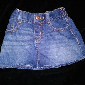 😁Oshkosh Girl blue denim skirt-sz 4T